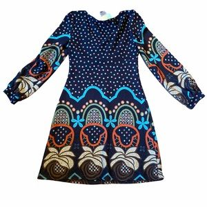 Funky People Boho Fun Pullover Dress Size Med